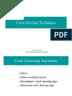 Circle Drawing Algorithms