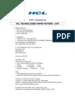 HCL 2010 patteren