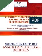 Alcances y Objetivos Inst. Electricas