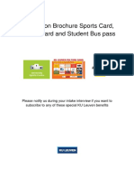 Information Brochure Sports Card
