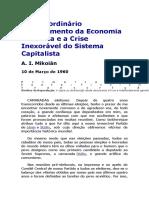 O Extraordinário Florescimento Da Economia Soviética e a Crise Inexorável Do Sistema Capitalista