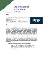 Sociedade e Mente Na Filosofia Marxiana