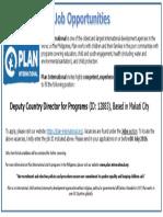 Job Advertisement - DCDP
