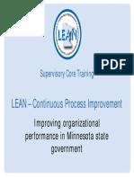Lean Core Training