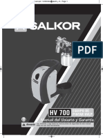 Manual Salkor Hv700 Máquina para pintar