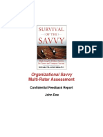 Organisational Savvy Multi Rater Assessment - Confidential Feedback Report
