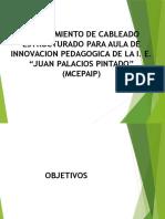 Mejoramiento de Cableado Estructurado Para Aula de Innovacion