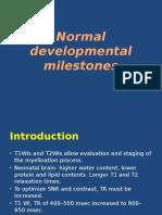Myelination milestones on MRI and HIE patterns