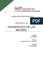 Diagnóstico de Las Micosiss