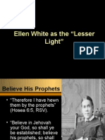 Meaning of Ellen White as Lesser Light
