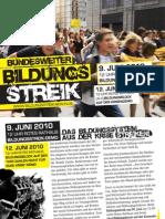 Flyer für die Berliner Mobilisierung