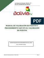 Manual de Valoracion de Puestos BOLIVIA TV