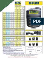 Kentank Price List June 2015