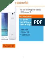 Domumentation Pack Tout en Main Samsung J1 Ace( Forfait Bloqué 10000)