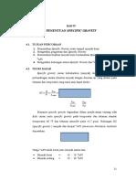 Bab IV - Specific Gravity