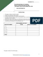 Basic Math - 2003 - F2