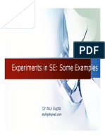 Example Experiments in Software Engineeing