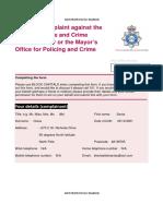Police Complaint – 16 June 2016 Redact