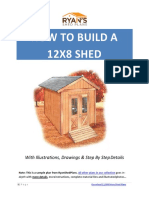 HOW TO BUILD A 12X8 SHED