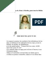 Message de Jésus à Marthe