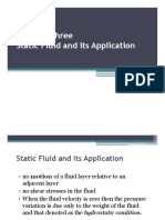 Static Fluid and Its Application