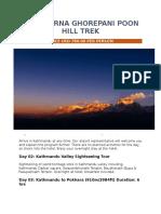 Annapurna Ghorepani Poon Hill Trek