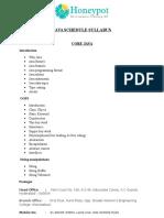 Java Syllabus