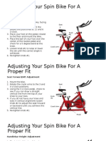 spin bike adjustment