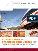 Contact Wire and Stranded Conductors for Overhead Catenary Systems