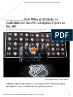 NHL Draft 2016_ Who Will Likely Be Available for the Philadelphia Flyers at No