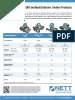 Nett Technologies EPA Verified Emission Control Products
