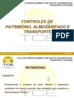 Controle de Patrimonio Almoxarifado e Transporte Lidiane Dos Anjos Santos e Marcos Jose Da Silva
