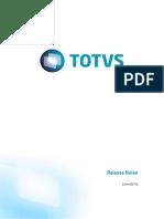 Release Notes - Totvs Manufatura