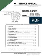 Sharp AR 5516-5520 Service Manual