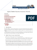 Agilent33220A FuncGenerator Tutorial