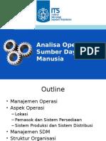 12-Analisa Operasi Dan SDM