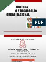 Clima, Cultura, Cambio y Desarrollo Organizacional