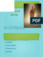 Foot and ankle kinesiolog