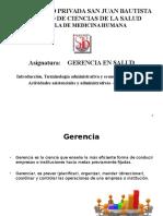 GERENCIA CLASE N° 01