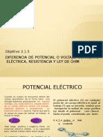 3.1.5 Diferencia de Potencial o Voltaje, Corriente Eléctrica