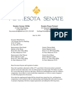 Special session compromise proposed by Senators Miller and Reinert