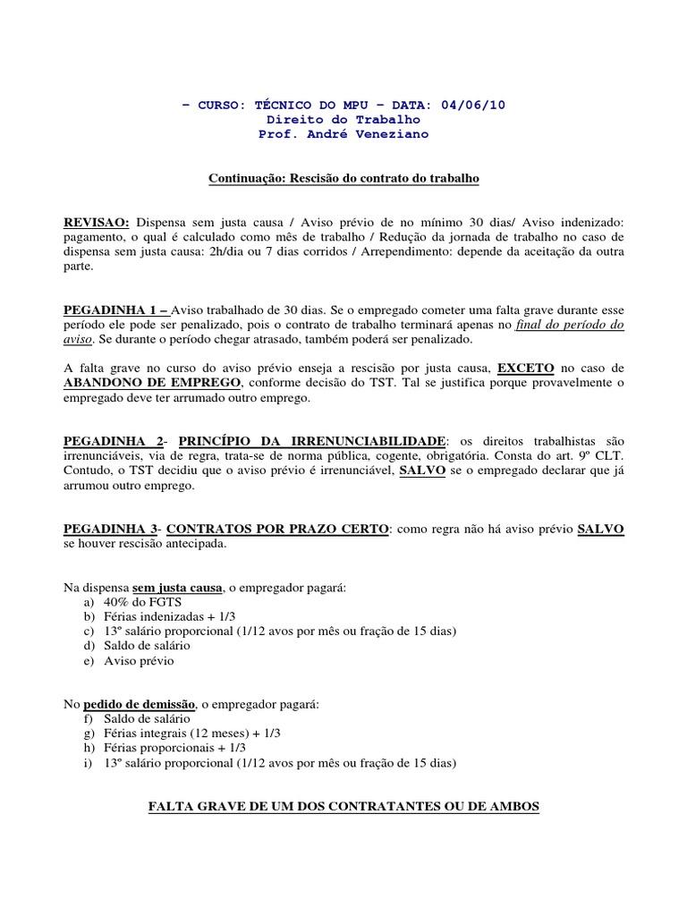 ae75ca1d90e3c Direito do Trabalho - Resumo 1
