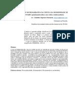 METANARRATIVA E MICRONARRATIVA NA CRÍTICA DA MODERNIDADE DE JEAN FRANÇOIS LYOTARD