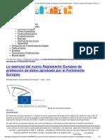 Lo Esencial Del Nuevo Reglamento Europeo de Protección de Datos Aprobado Por El Parlamento Europeo - Revista Transformación Digital _ Revista Transformación Digital