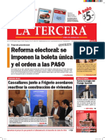 Diario La Tercera 24 06 2016