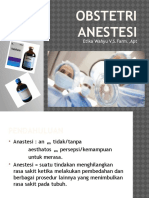 Obstetri Anestesi