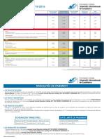 Frais de Scolarite - Uic Formation Initiale 2015-16