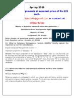 MI0034-Database Management System