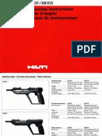 Manual Hiltti Dx e72