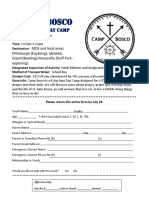 camp bosco registration